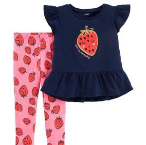 Carter's Matching Sets - 🍓Carter's Toddler Girl 3T Outfit Set